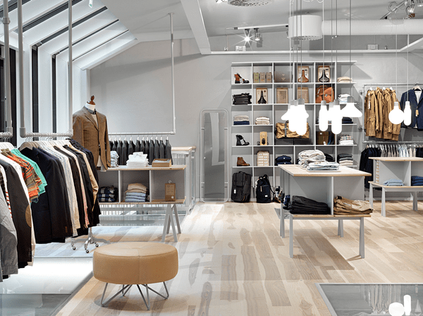 Fredagsmys clothing shop haberdash designed by fuwl for Retail store interior design