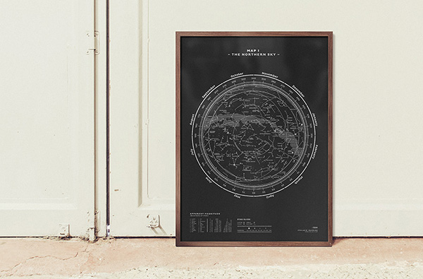 On The Wall: Star Map Silkscreen Prints From Stellavie