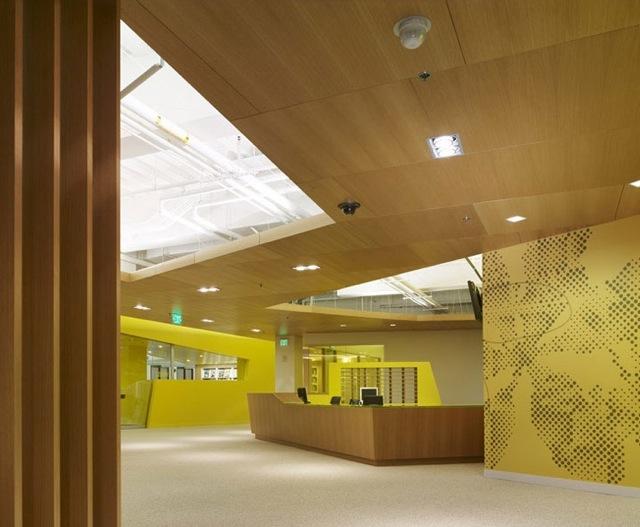 Yellow accents at the fidm in san diego scandinavian - Interior design institute orange county ...