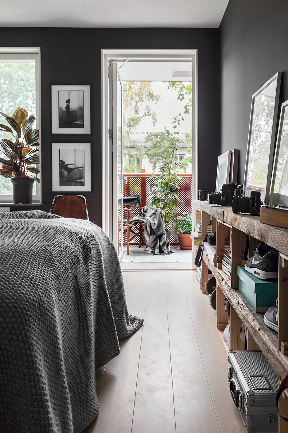 Scandinavian gray bedroom interior - Fantastic Frank via Design Studio 210