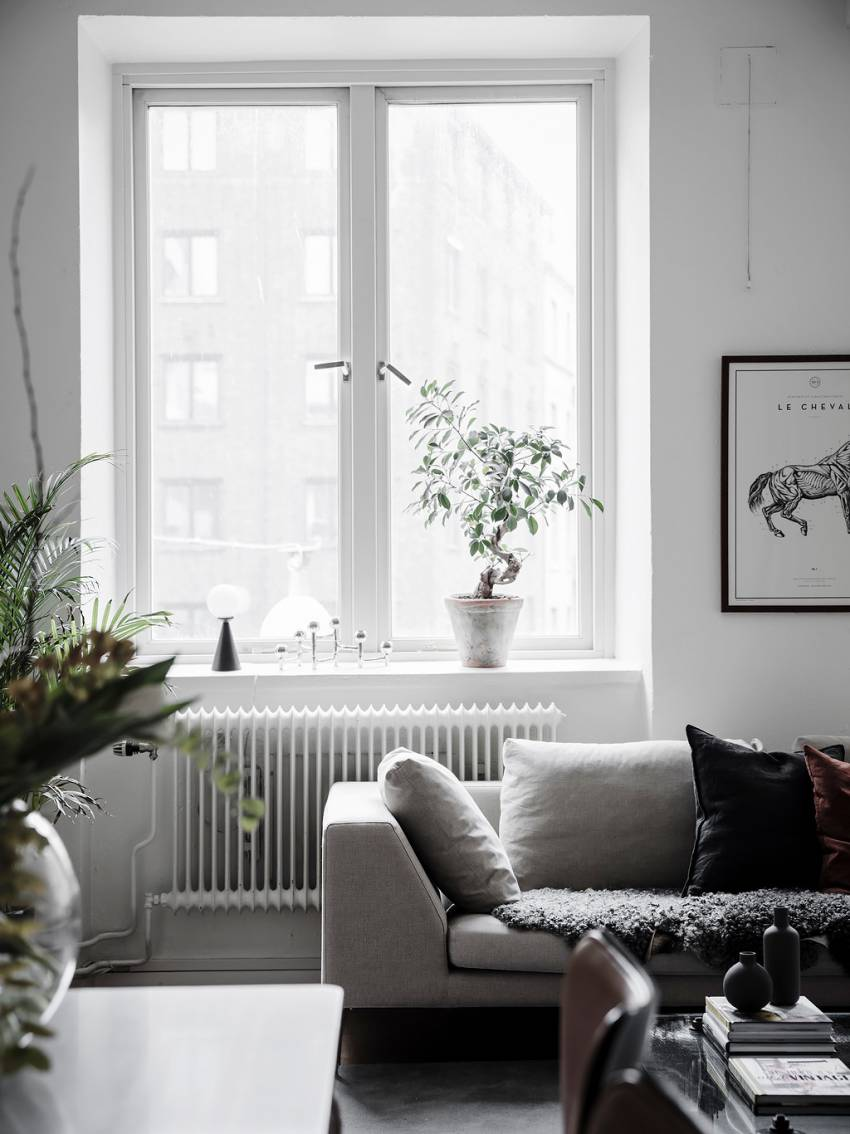scandinavian bohemian interior