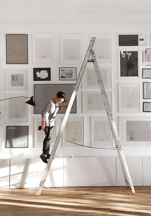 Hang art on the wall