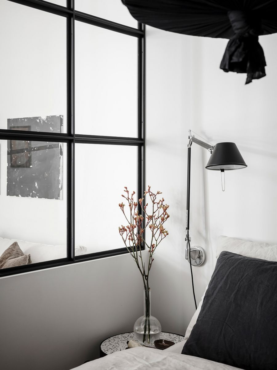 Small living apartment bedroom