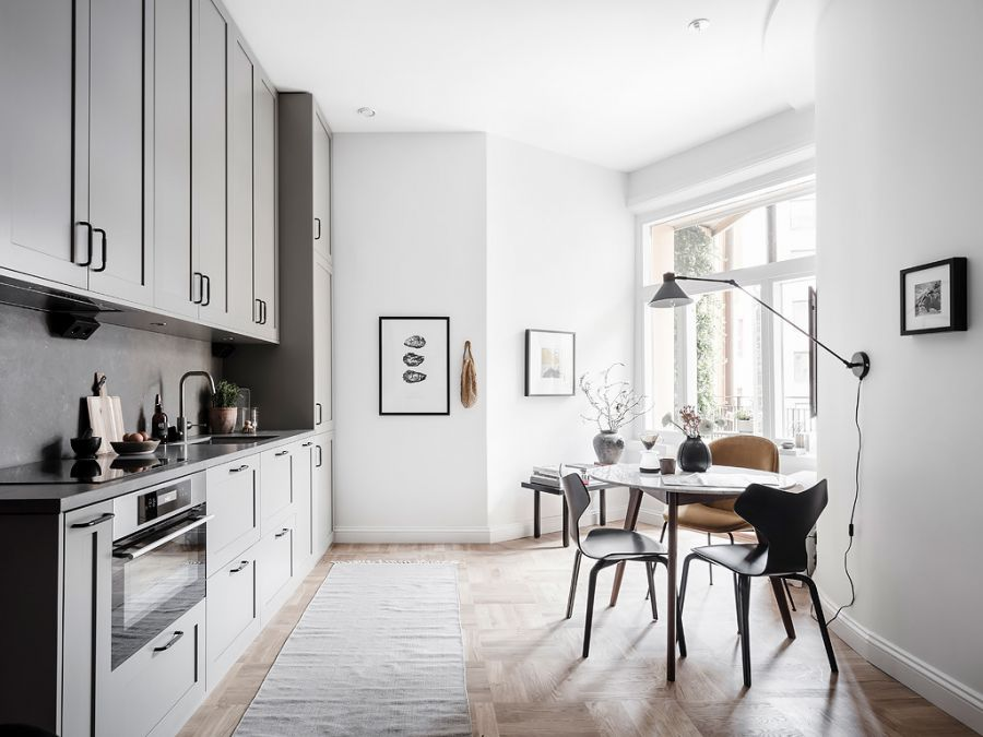 Small living apartment kitchen
