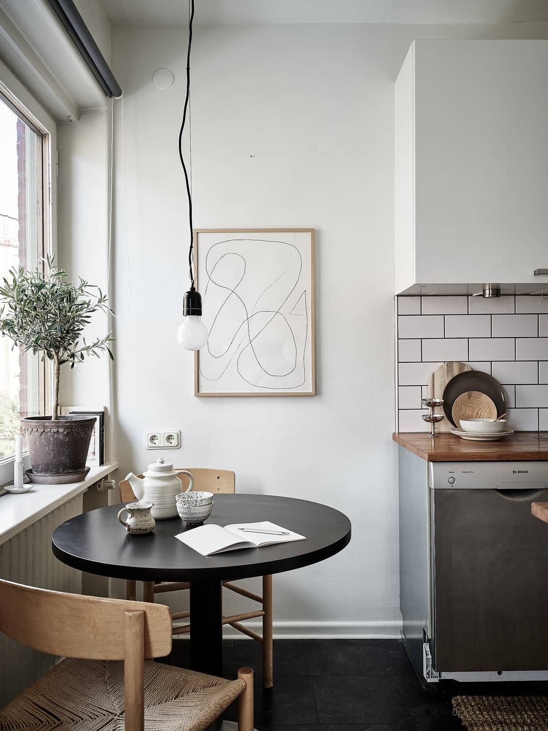Scandinavian kitchen eating nook