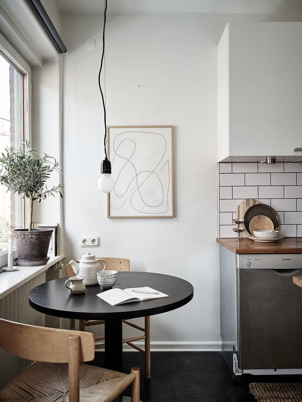 Scandinavian kitchen eating nook