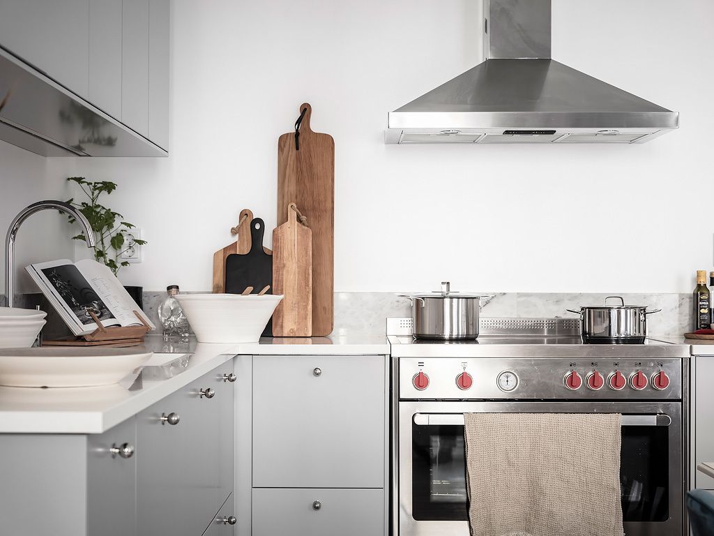 Scandinavian kitchen gray